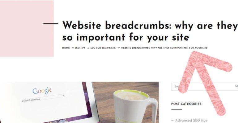 what are website breadcrumbs