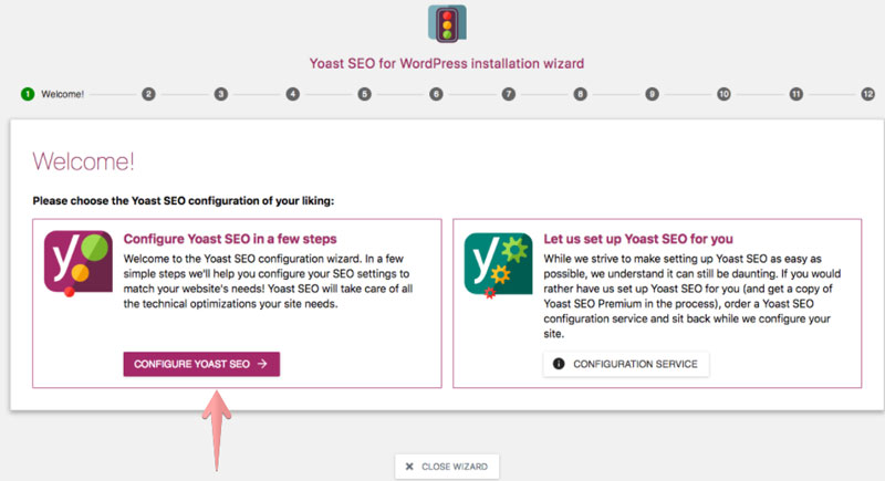 Yoast SEO Configuration Wizard How to use Yoast SEO in WordPress